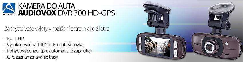Čierna skrinka AUDIOVOX DVR-300HD GPS