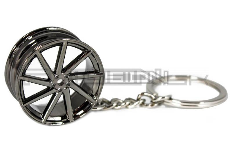 Prívesok na kľúče Wheel Vossen Black Chrome  57afab98d76