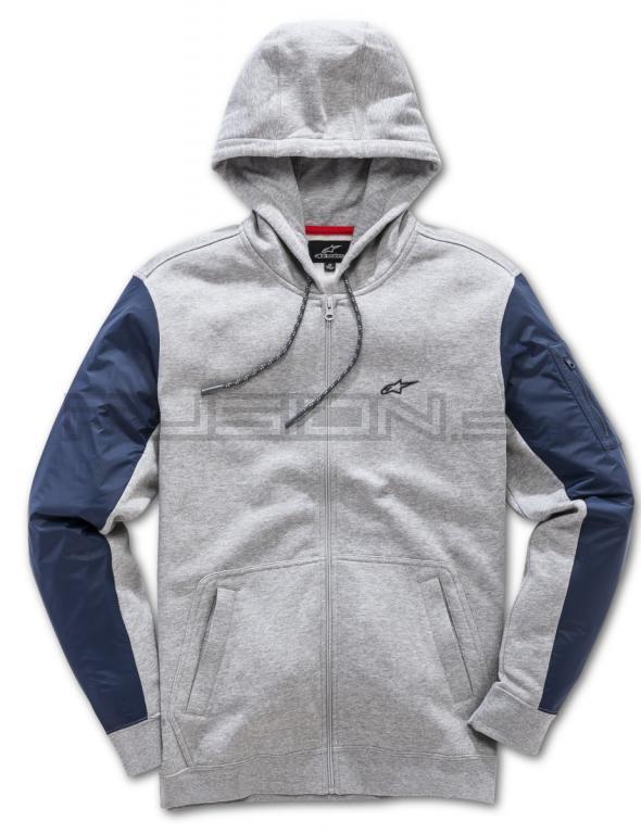 Pánska šedá mikina EDGE FLEECE Alpinestars 1018-53000 1026  9df3814b50c