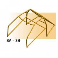 [SPARCO bezpečnostný rám RENAULT model (Alpine A110 1.3/1.6 (ruote a 3 bulloni)) od roku výr. 1966 - 1977]