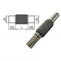 [Flexibilná rúrka s vnútorným výpletom d2 = 52mm - Dĺžka: 265mm]