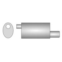 [Univerzálny športový výfuk ULTER z nehŕdzavejúcej ocele NRS123]