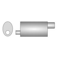 [Univerzálny športový výfuk ULTER z nehŕdzavejúcej ocele NRS141]