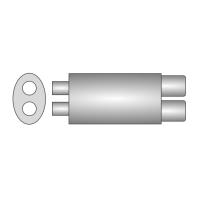 [Univerzálny športový výfuk ULTER z nehŕdzavejúcej ocele NRS253]
