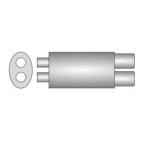 [Univerzálny športový výfuk ULTER z nehŕdzavejúcej ocele NRS255]