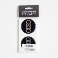 [Nálepka na disky 4ks LOGO - AUDI 60mm]