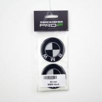 [Nálepka na disky 4ks LOGO - BMW BLACK 60mm]