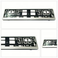 [License Plate Frame - silver]