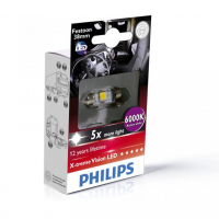 [Autožiarovky PHILIPS C5W - Sulfid X-tremeVision LED T10, 5x38 6000 K - 24V]