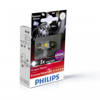[Autožiarovky PHILIPS C5W - Sulfid X-tremeVision LED T10,5x43 6000 K - 24V]