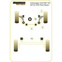 [Silentbloky Powerflex na VOLKSWAGEN Golf MK7 5G (2012-)-2WD REAR BEAM]
