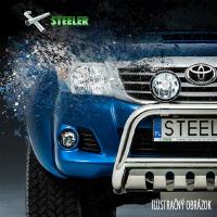 [Nerezové bočné rámy STEELER s plechovými stupňami VW T5 [2003-2010] ]