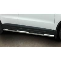 [Nerezové bočné rámy STEELER s plechovými stupňami VW TIGUAN [2007-2011] ]