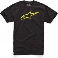 [Pánske čierno-žlté tričko Ageless CLASSIC TEE Alpinestars krátke 1032-72030 1050]
