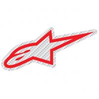 [Samolepka 9 cm červená CARBON Alpinestars 1033-97074 3020]