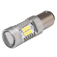 [LED BA15s biela, 12-24V, 21LED / 2835SMD]