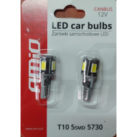 [LED VERTEX CANBUS 5SMD 5730 T10 (W5W) White]