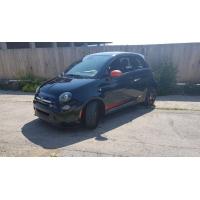 [Elektromobil Fiat 500e Čierny 2013 #833]