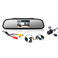 "[Bezdrôtová parkovacia kamera s LCD 4,3 ""monitorom na zrkadlo]"