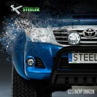 [Nerezové bočné rámy STEELER s plechovými stupňami VW T6 Black [2015--->] ]