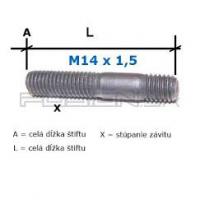 [Predĺžený obojstranný pozinkovaný Štift na koleso M14x1,5 45mm]
