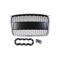[GRILL AUDI A3 8P RS-STYLE CHROME-BLACK (05-08)]