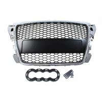 [GRILL AUDI A3 8P RS-STYLE CHROME-BLACK (07-12)]