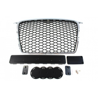 [GRILL AUDI A3 8P RS-STYLE CHROMED BLACK (05-09)]