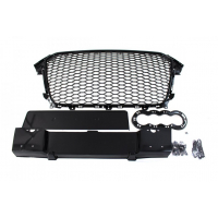 [GRILL AUDI A4 B8 RS-STYLE GLOSS BLACK (12-15)]