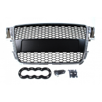 [GRILL AUDI A5 8T RS-STYLE CHROME-BLACK (07-10)]