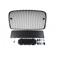 [GRILL AUDI A5 8T RS-STYLE CHROMED BLACK (13-16)]