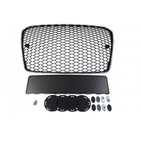 [GRILL AUDI A5 8T RS-STYLE CHROMED BLACK (13-16) PDC]