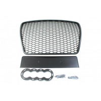 [GRILL AUDI A6 C6 RS-STYLE GLOSS BLACK (09-11)]