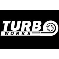 [Naklejka TurboWorks Biała]