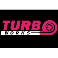[Naklejka TurboWorks Fioletowo-Biała]