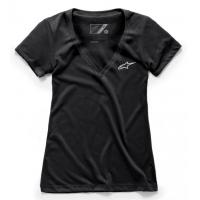 [Dámske čierne tričko AGELESS Vneck TEE Alpinestars krátke 1W38-73000 10]