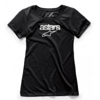 [Dámske čierne tričko HERITAGE BLAZE TEE Alpinestars krátke 1W38-73004 10]