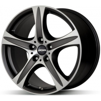 [RONAL R55 SUV MB/FC - MATT BLACK-FRONT DIAMOND CUT]