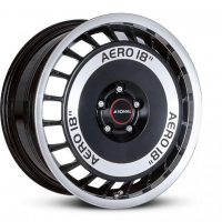 [RONAL R50 AERO B/FC - BLACK-FRONT DIAMOND CUT]