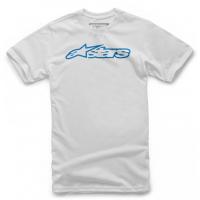 [Detské biele tričko BLAZE TEE Alpinestars krátke 3038-72000 2072]