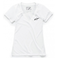 [Dámske biele tričko Ageless Vneck TEE Alpinestars krátke 1038-73000 20]