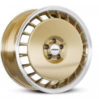 [RONAL R50 AERO - RACING GOLD-RIM LIP DIAMOND CUT]