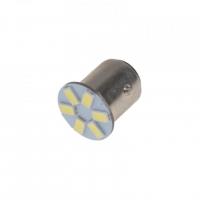 [LED BAY15d (dvouvlákno) bílá, 12V, 6LED/5630SMD]