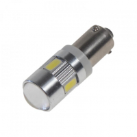 [LED BAX9s biela, 12-24V, 6LED / 5730SMD]