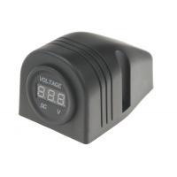 [Digitálny voltmeter 6-30V červený do panelu]