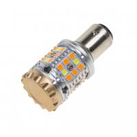 [LED BAY15d biela / oranžová, CAN-BUS, 12V, 40LED / 3030SMD]
