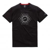 [Pánske čierne prémiové tričko BURST RIDE DRY TEE Alpinestars krátke 1019-73000 10]