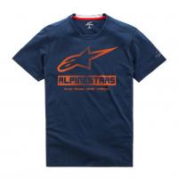 [Pánske modré prémiové tričko SOURCE RIDE DRY TEE Alpinestars krátke 1019-73004 70]