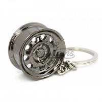 [Prívesok na kľúče Disk WIDE Steel plechač (Black chrome)]