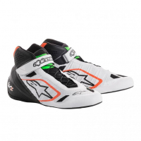[Topánky Alpinestars  TECH-1 KZ SHOES - WHITE BLACK GREEN]